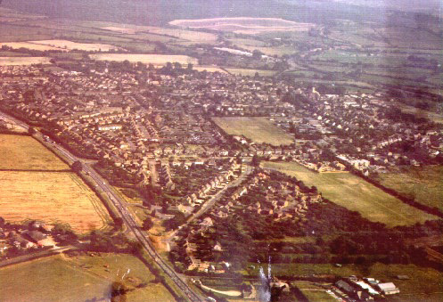 Aerial view of Eynsham